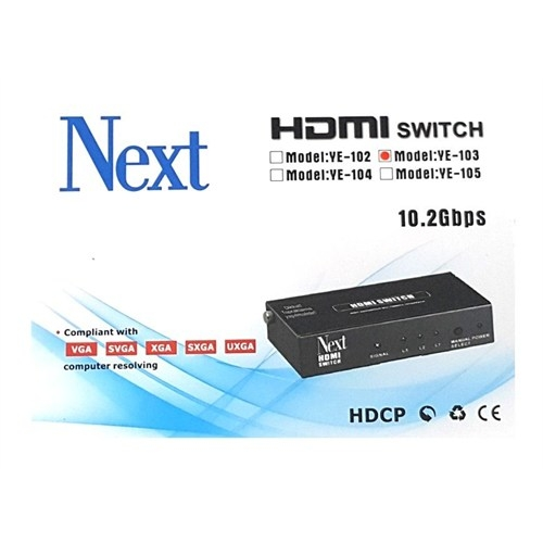 Next Ye-103 3X1 Hdmı Switch - 3 Port Kumandalı